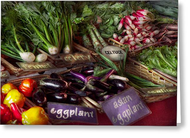 Fresh Produce Greeting Cards - Food - Vegetables - Very fresh produce  Greeting Card by Mike Savad