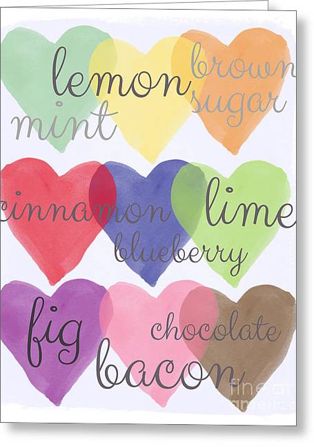 Flavor. Greeting Cards - Foodie Love Greeting Card by Linda Woods