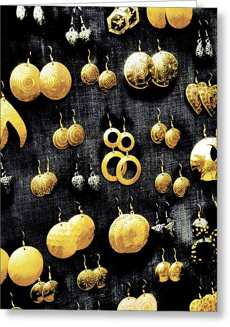 Gold Earrings Digital Greeting Cards - Fools Gold Greeting Card by Steve Taylor