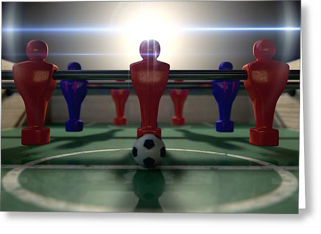 Foosball Table Greeting Card by Allan Swart
