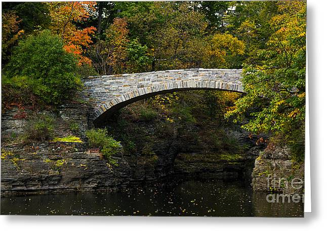 Fingerlakes Greeting Cards - Foot Bridge at Beebe Lake Greeting Card by Brad Marzolf Photography