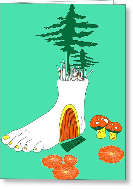 Photoshop Paintings Greeting Cards - Foot Fort Greeting Card by Celina Frisson