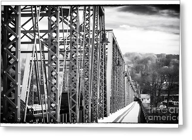 Truss Bridge Greeting Cards - Foot Path to Lambertville Greeting Card by John Rizzuto