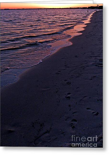 Just Right Greeting Cards - Foot Prints Upon The Sands Of Time Greeting Card by Irma BACKELANT GALLERIES