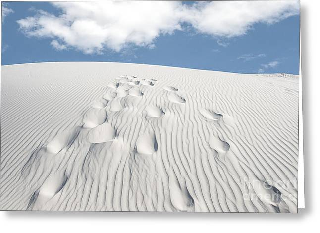 Sand Pattern Greeting Cards - Foot Steps to the Clouds Greeting Card by Tod and Cynthia Grubbs