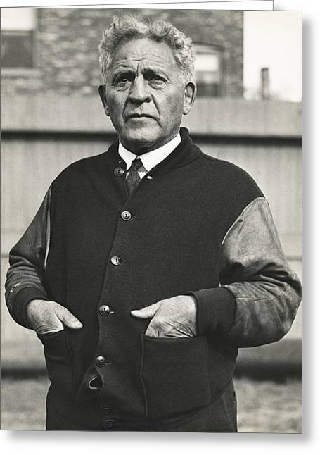 Hand In Pocket Greeting Cards - Football Coach Alonzo Stagg Greeting Card by Underwood Archives