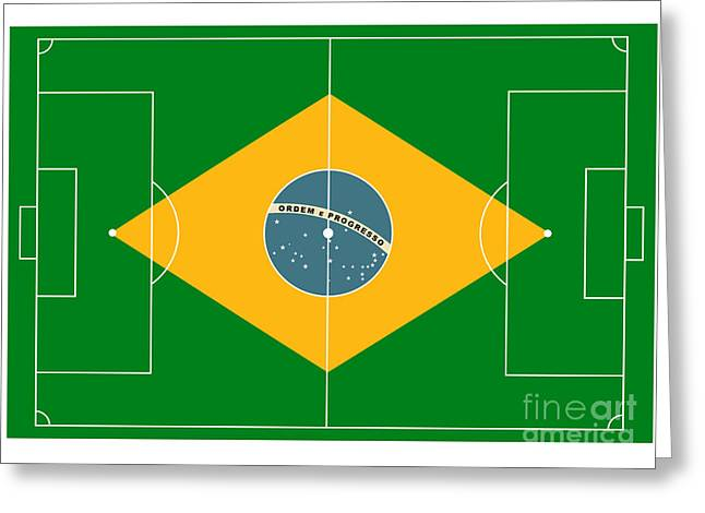Stadium Design Digital Greeting Cards - Football Field Greeting Card by Michal Boubin