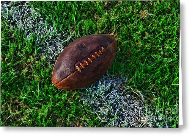 Kick Off Greeting Cards - Football - First and Goal Greeting Card by Paul Ward