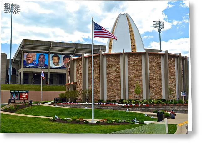 Espn Greeting Cards - Football Hall of Fame Greeting Card by Frozen in Time Fine Art Photography
