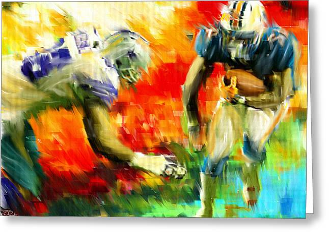 Football IIi Greeting Card by Lourry Legarde