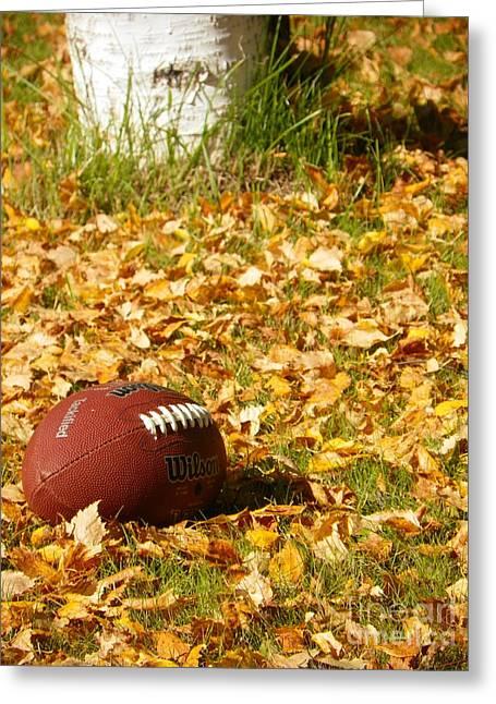Jennifer Kimberly Greeting Cards - Football Greeting Card by Jennifer Kimberly