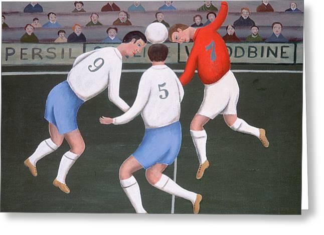 Football Greeting Card by Jerzy Marek