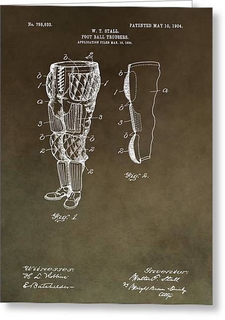 Football Pants Patent Greeting Card by Dan Sproul