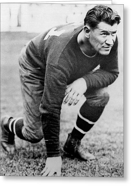Football Player Jim Thorpe Greeting Card by Underwood Archives