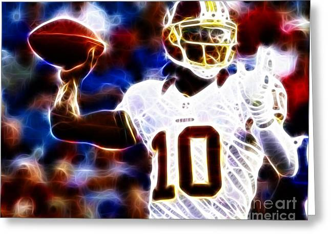 Fantasy Football Greeting Cards - Football - RG3 - Robert Griffin III Greeting Card by Paul Ward