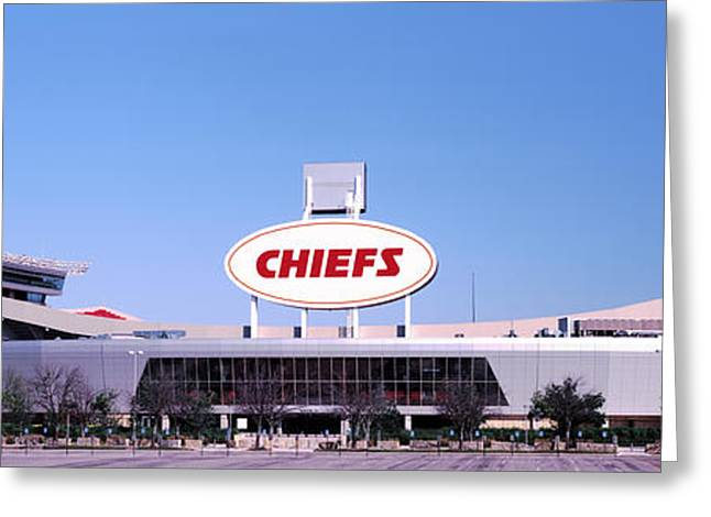 Kansas City Missouri Greeting Cards - Football Stadium, Arrowhead Stadium Greeting Card by Panoramic Images