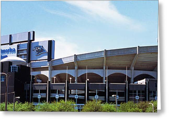 Mecklenburg County Greeting Cards - Football Stadium In A City, Bank Greeting Card by Panoramic Images