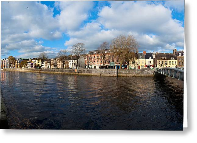 County Cork Greeting Cards - Footbridge Across A River, Millenium Greeting Card by Panoramic Images