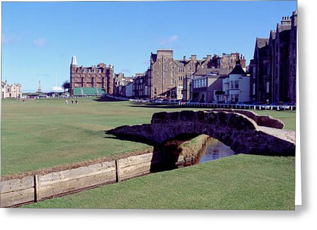 Fife Greeting Cards - Footbridge In A Golf Course, The Royal Greeting Card by Panoramic Images