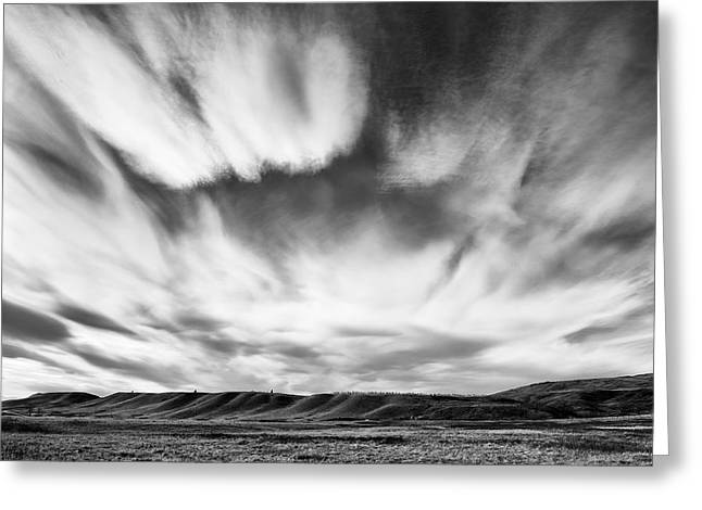 Canadian Foothills Landscape Greeting Cards - Foothills Cloud Drama Greeting Card by Heather Simonds