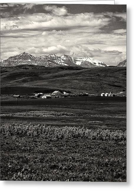 Alberta Foothills Landscape Greeting Cards - Foothills Farm Greeting Card by Roderick Bley