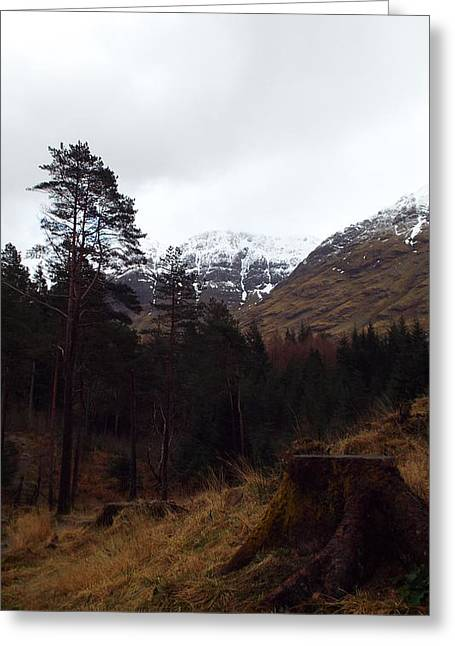 Snow Capped Greeting Cards - Foothills of Glencoe Greeting Card by Dean Stoker
