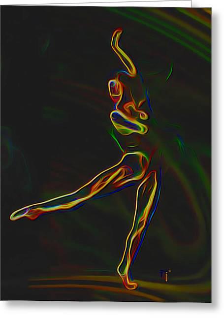 Tradigital Art Greeting Cards - Footloose Greeting Card by  Fli Art