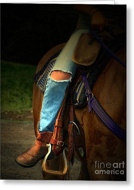 Riding Boots Digital Art Greeting Cards - Footloose Greeting Card by Steven  Digman