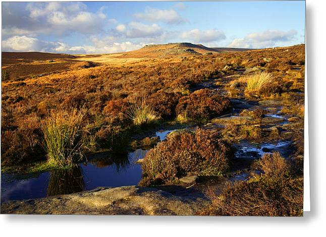 Wark Photographs Greeting Cards - Footpath to Burbage Rocks Greeting Card by Darren Galpin
