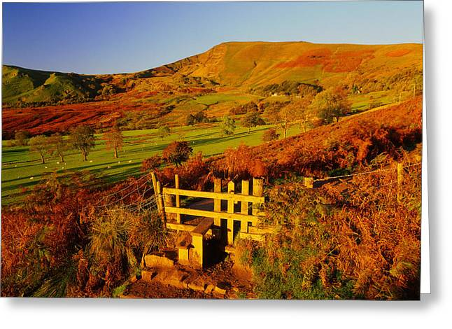 Mam Tor Greeting Cards - Footpath to Mam Tor Greeting Card by Darren Galpin