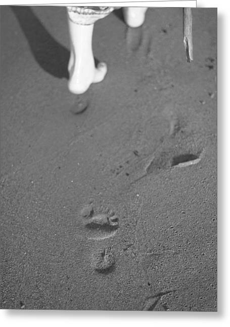 Going Forward Greeting Cards - Footprints Greeting Card by Cherrie Gustafson Moore