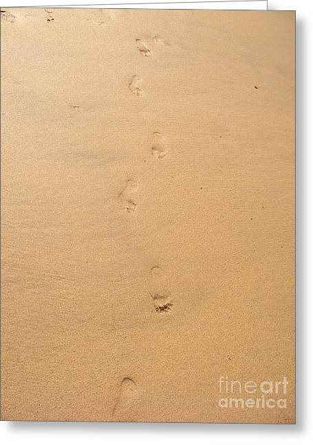Bible Digital Art Greeting Cards - Footprints in the sand Greeting Card by Pixel  Chimp