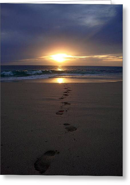 Footprint Greeting Cards - Footprints Greeting Card by Kelly Jones