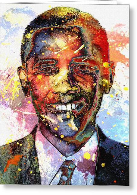 President Obama Greeting Cards - For a colored world Greeting Card by Stefan Kuhn
