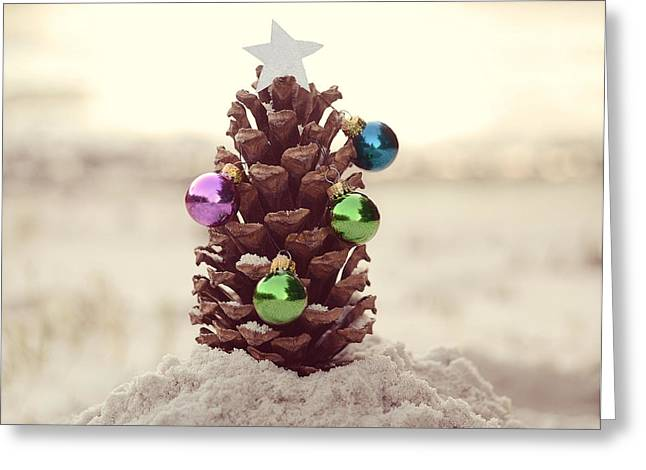 Christmas Star Greeting Cards - For All Creatures Great And Small Greeting Card by Laura Fasulo