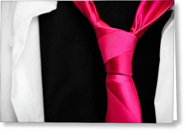 Shirt And Tie Greeting Cards - For An Evening Out Greeting Card by Pixel Perfect by Michael Moore