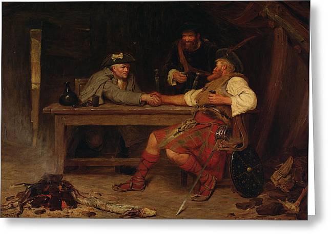 Kilt Greeting Cards - For Better Or Worse - Rob Roy Greeting Card by John Watson Nicol