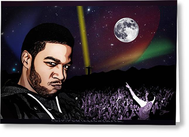 For even in hell - Kid Cudi Greeting Card by Dancin Artworks