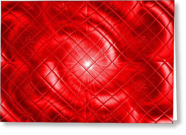 Cellphone Greeting Cards - For Ever In My Heart In Red Greeting Card by Gert J Rheeders