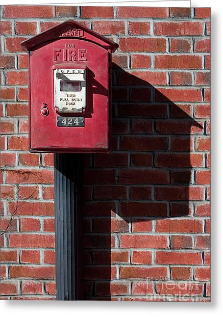 Call Box Greeting Cards - For Fire Greeting Card by Dan Holm