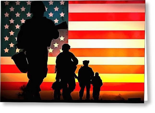 For God And Country Greeting Card by Dan Sproul