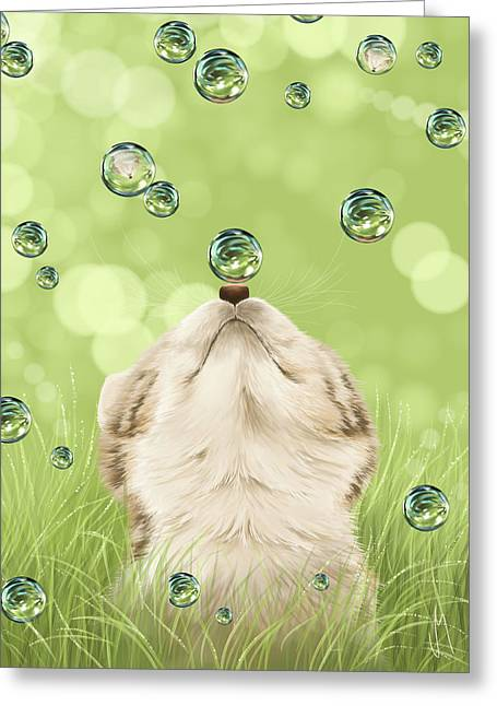 Cat Reflection Greeting Cards - For kicks Greeting Card by Veronica Minozzi