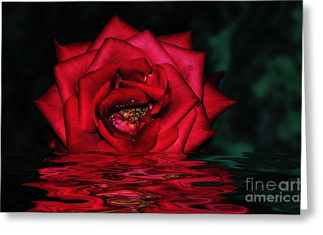 Art Of Lovers Greeting Cards - For Lovers of Rich Red... Greeting Card by Kaye Menner