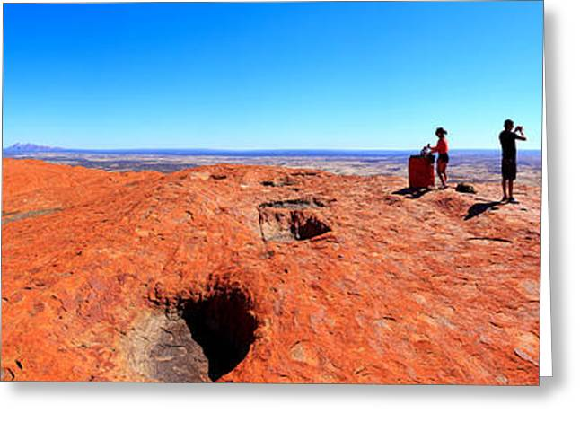 Ayers Rock Greeting Cards - For Miles.....Central Australia Greeting Card by Bill  Robinson