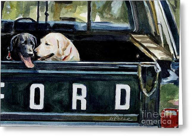 Labrador Retrievers Greeting Cards - For Our Retriever Dogs Greeting Card by Molly Poole