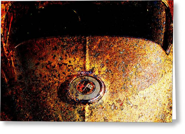 Rusted Cars Greeting Cards - For Sale 1966 Chevrolet Corvette Sting Ray Slight Superficial Body Wear 5D26354 Square Greeting Card by Wingsdomain Art and Photography