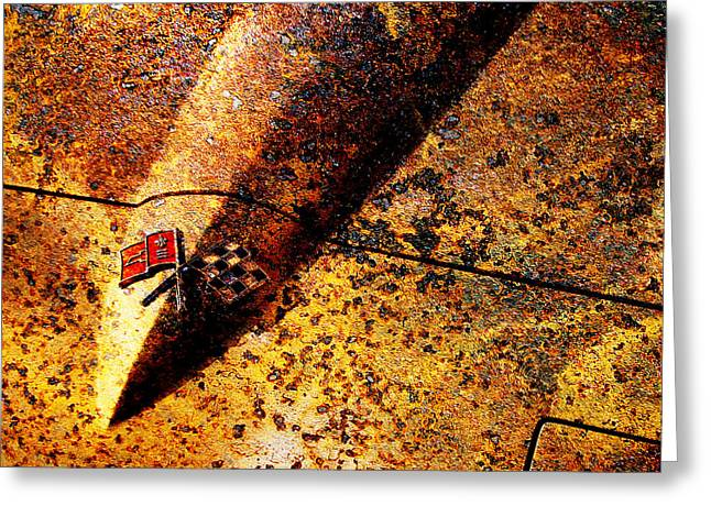 Rusted Cars Digital Art Greeting Cards - For Sale 1966 Chevrolet Corvette Sting Ray Slight Superficial Body Wear 5D26370 Square Greeting Card by Wingsdomain Art and Photography