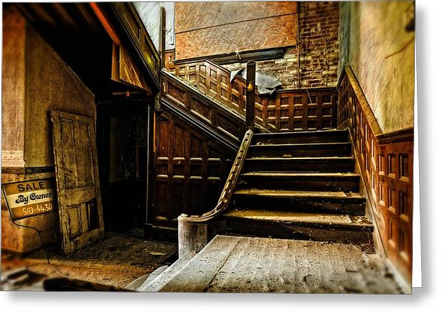 Abandoned Houses Digital Greeting Cards - For Sale by Owner Greeting Card by Brett Engle