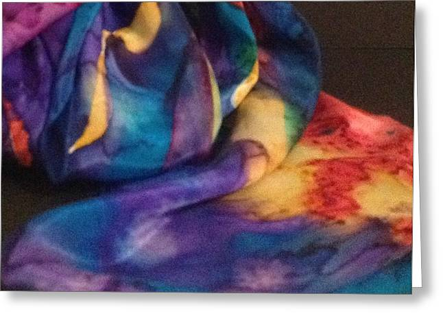 Abstract Tapestries - Textiles Greeting Cards - Silk-10 Greeting Card by Julia Shapiro