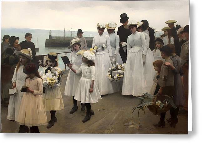Reverend Greeting Cards - For Such is the Kingdom of Heaven Greeting Card by Frank Bramley